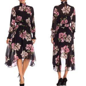 NWT Nanette Lepore Floral Smocked Dress 12